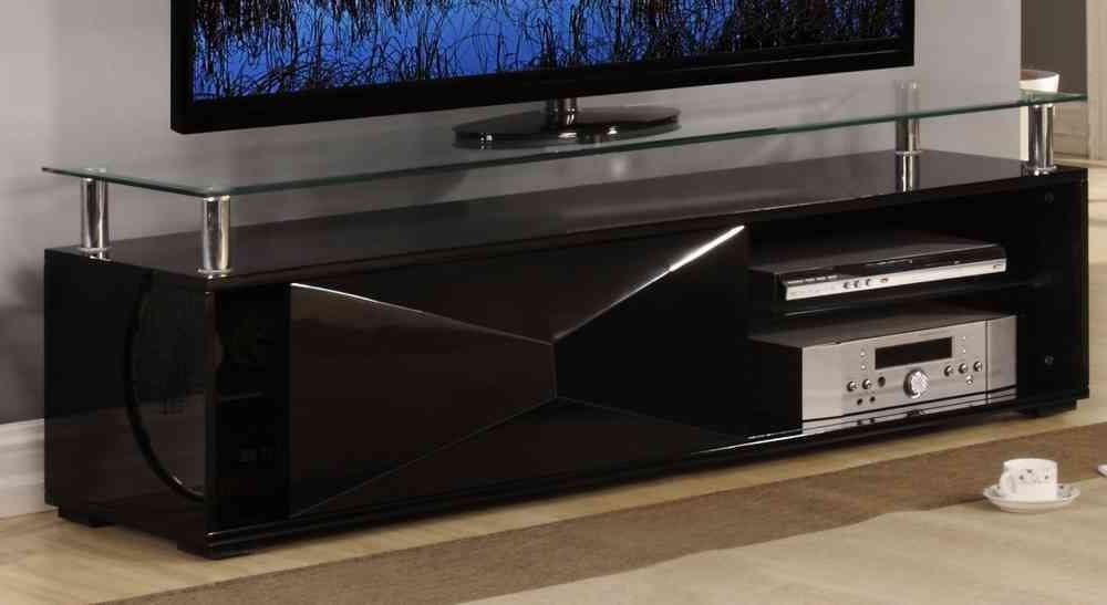 Preferred Black Glass Tv Cabinet (View 5 of 20)