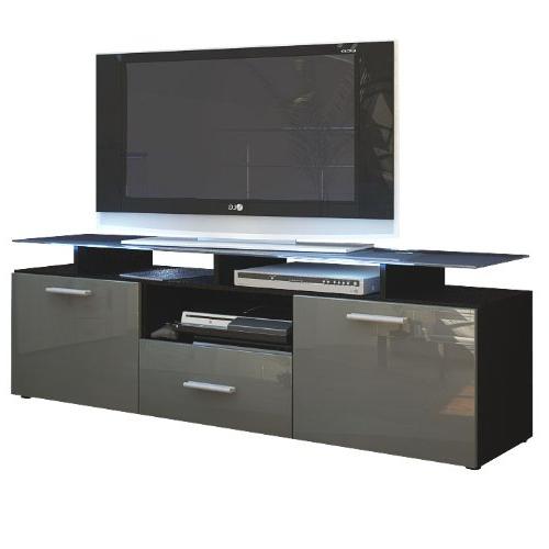 Preferred Black High Gloss Corner Tv Unit Inside Tv Unit Grey: Amazon.co (View 16 of 20)