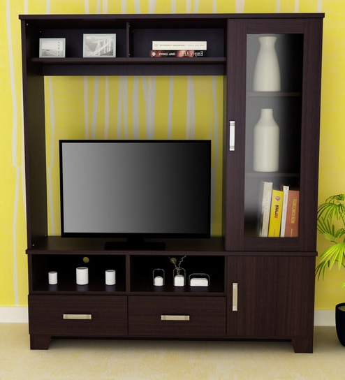 Preferred Buy Tv Unit In Wenge Coloureros Online – Modern Tv Units – Tv Regarding Wenge Tv Cabinets (View 9 of 20)