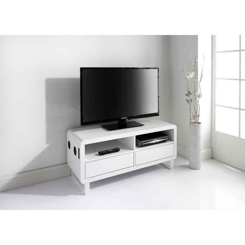 Preferred Cheap Tv Stands And Tv Units From B&m Regarding Cream High Gloss Tv Cabinets (View 15 of 20)