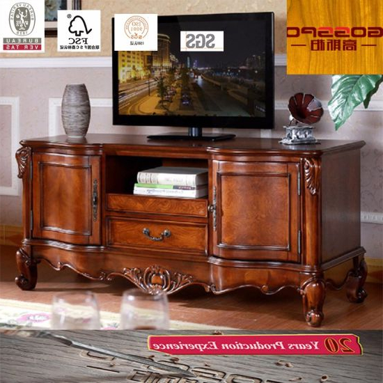 Preferred China Fancy Design Teak Wood Tv Stand / Tv Cabinet (gsp13 007 In Fancy Tv Stands (View 7 of 20)