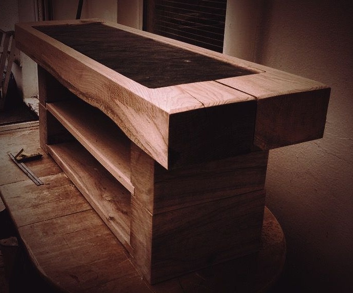 Preferred Chunky Oak Tv Units Intended For Mewslade Chunky Oak Railway Sleeper Tv Stand (View 13 of 20)