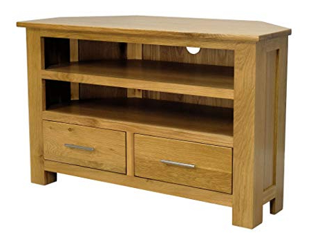 Preferred Chunky Oak Tv Units With Regard To Oakland – Chunky Oak Corner Tv Plasma Dvd Video Unit Stand Cabinet (View 14 of 20)