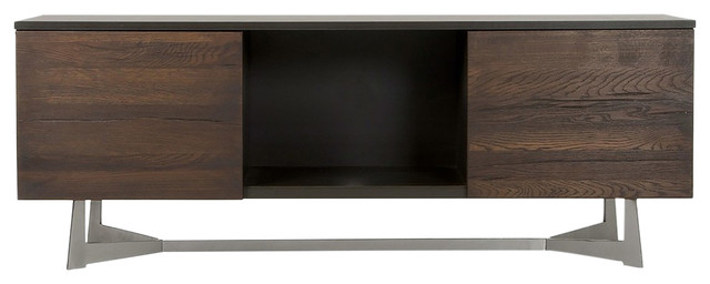 Preferred Contemporary Wood Tv Stands For Modrest Wharton Modern Dark Aged Oak Tv Stand – Contemporary (View 5 of 20)