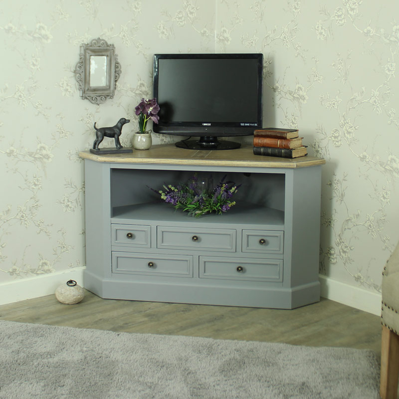 Preferred Corner Tv Cabinets With Regard To Corner Tv Cabinet Unit – Admiral Range – Melody Maison® (View 16 of 20)