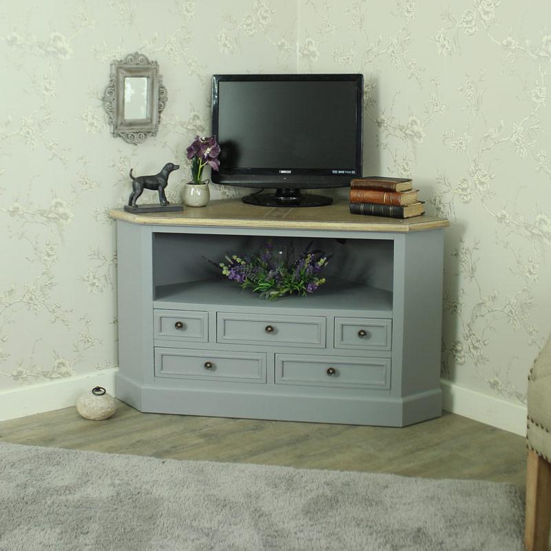 Preferred Corner Tv Cabinets With Regard To Corner Tv Cabinet Unit – Admiral Range – Melody Maison® (View 10 of 20)