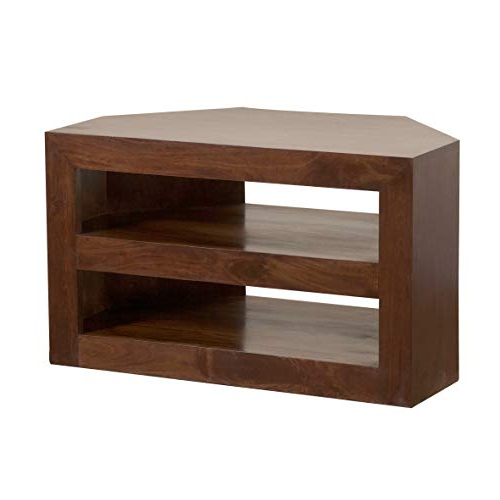 Preferred Dark Brown Corner Tv Stands Within Dark Wood Corner Tv Unit: Amazon.co (View 13 of 20)