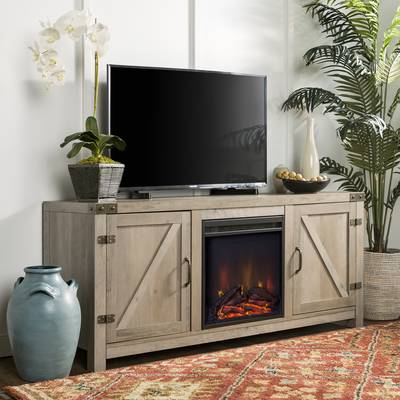 "Preferred Dixon White 58 Inch Tv Stands In Mistana Whittier Tv Stand For Tvs Up To 60"" With Fireplace & Reviews (View 19 of 20)"