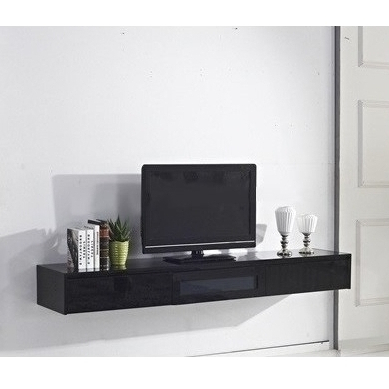 Preferred Expressia Floating Tv Cabinet In Gloss Black 2M (View 10 of 20)