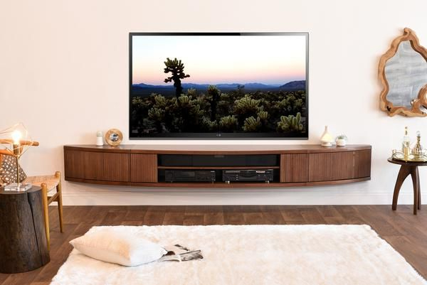 Preferred Floating Tv Stand Mid Century Modern Entertainment Center – Arc With Century Sky 60 Inch Tv Stands (View 12 of 20)