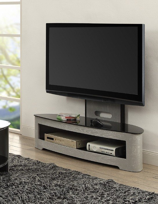 Preferred Grey Tv Stands Intended For Jual Florence Curved Grey Ash Cantilever Tv Stand (Jf209Gb) (View 13 of 20)