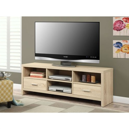 Preferred Light Wood Grain Modern 60 Inch Tv Stand Entertainment Center In Regarding Modern Tv Stands For 60 Inch Tvs (View 13 of 20)