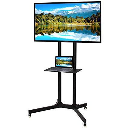 Preferred Lockable Tv Stands In Amazon: Best Choice Products Flat Panel Steel Tv Stand Mobile Tv (View 13 of 20)