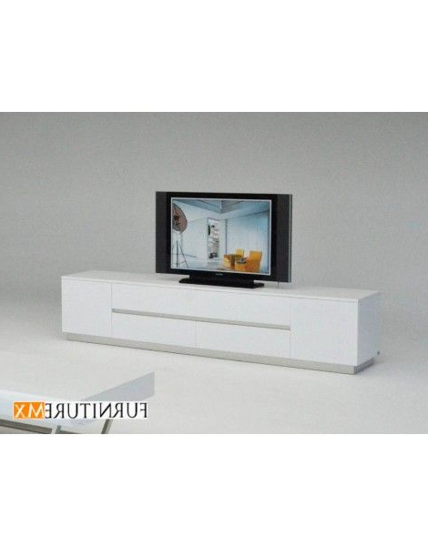 Preferred Modern White Lacquer Tv Stands Intended For Modern White Lacquer Tv Stand Has A Unique Modern Design That Will (View 4 of 20)