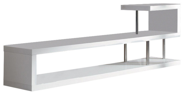 Preferred Modern White Lacquer Tv Stands With Modrest Win 5 Modern White Lacquer Tv Stand – Contemporary (View 9 of 20)
