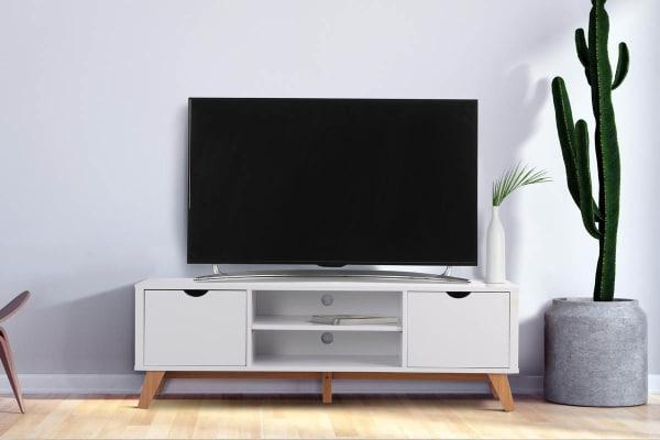 Preferred Ovela 2 Drawer Tv Entertainment Unit – Finse Collection (white For Tv Entertainment Unit (View 6 of 20)