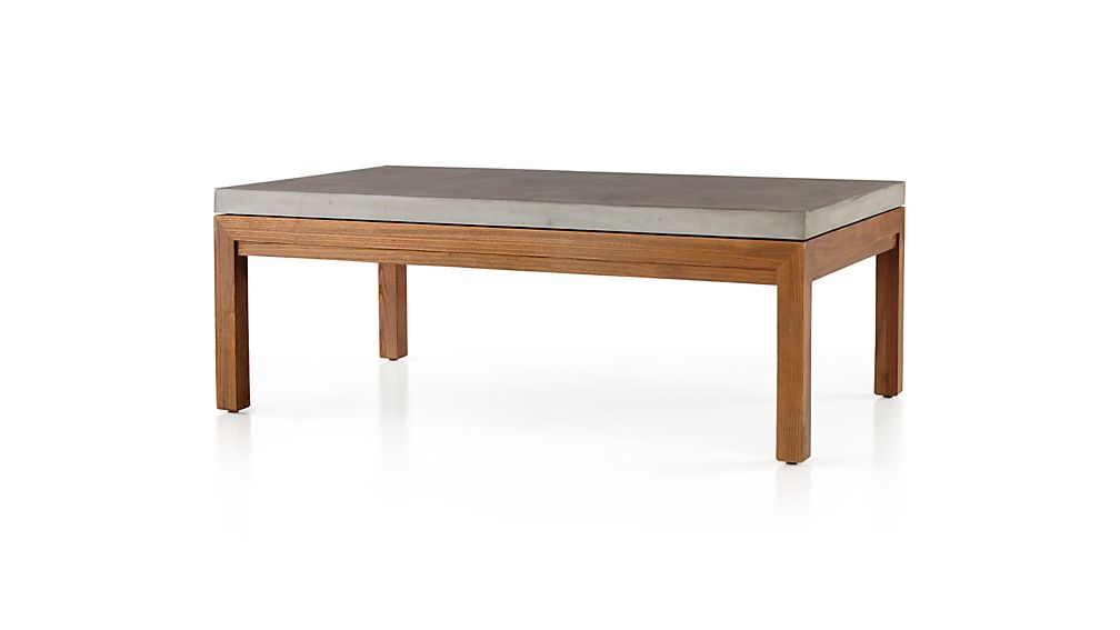 Preferred Parsons Concrete Top/ Elm Base 48X28 Small Rectangular Coffee Table Pertaining To Parsons White Marble Top & Elm Base 48X16 Console Tables (View 18 of 20)