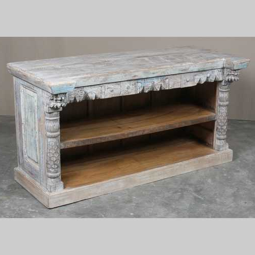 Preferred Reclaimed Hand Carved Tv Unit – Jugs Indian Furniture & Gifts With Regard To Hand Carved White Wash Console Tables (View 15 of 20)