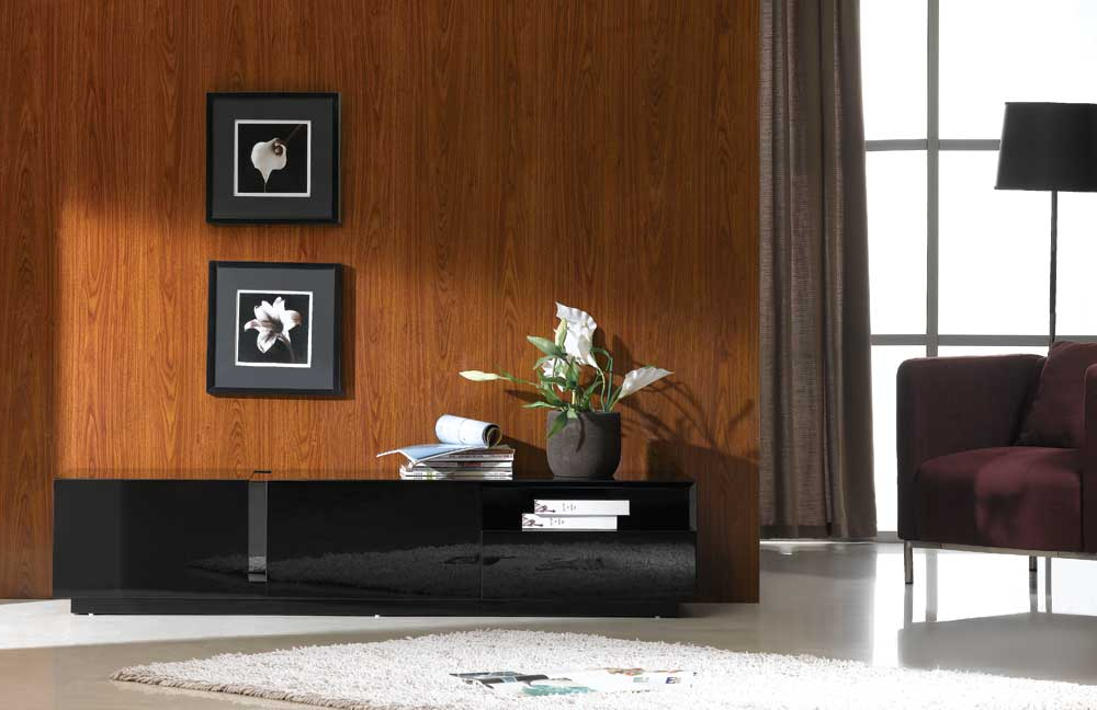 Preferred Shiny Black Tv Stands For Tv Stands (View 17 of 20)