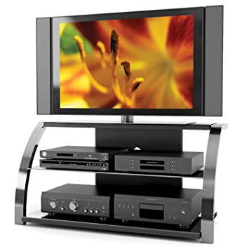 Preferred Sonax Ml 1444 Milan 50 Inch Gun Metal Tv Stand: Amazon (View 9 of 20)