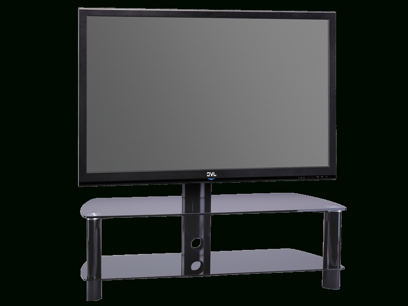 """Preferred Stil Tv Stands Within Stil Stand Swivel Glass Cantilever Tv Stand Up To 50"""" Stuk2055Bb (View 4 of 20)"""