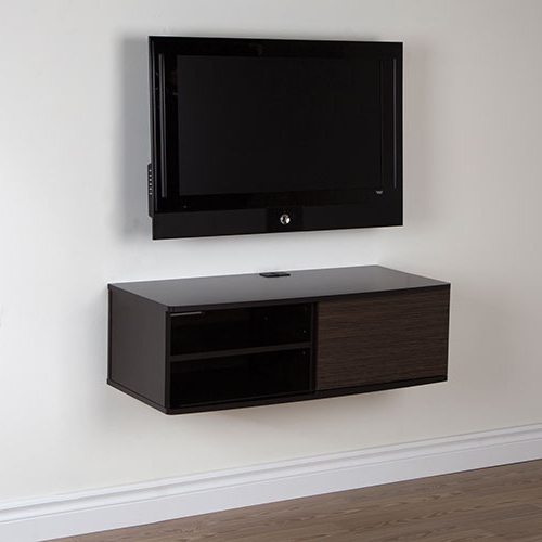 "Preferred Tv Stands 38 Inches Wide Intended For South Shore Agora 38"" Wall Mounted Media Console – Chocolate (View 9 of 20)"