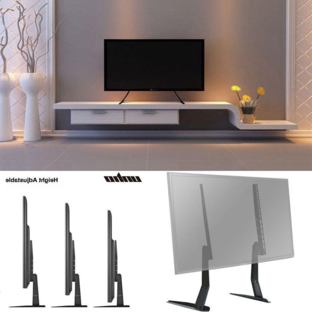 Preferred Universal Flat Screen Tv Stand Holder Tabletop Vesa Pedestal Legs For Universal Flat Screen Tv Stands (View 19 of 20)