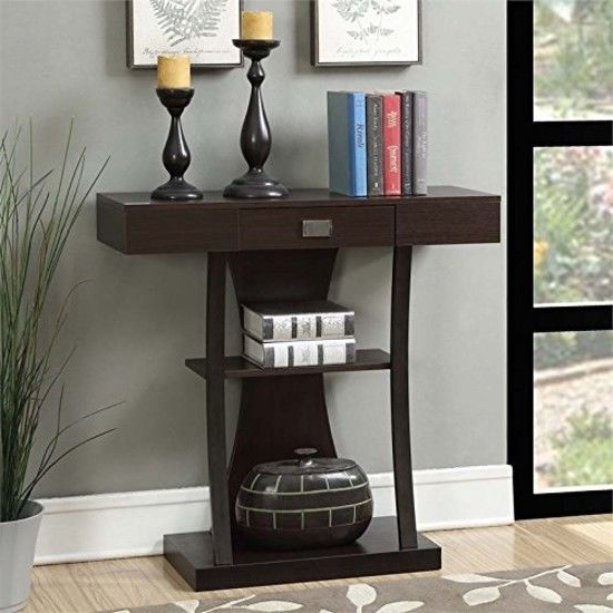 Preferred Ventana Display Console Tables Inside Entryway Modern Console Table Drawer Accent Shelf Storage Wood Sofa (View 12 of 20)