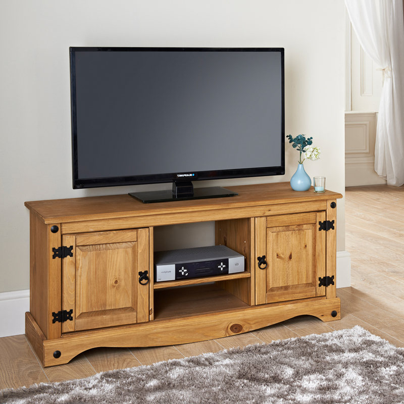 Preferred Wide Tv Cabinets Within Rio Deluxe 2 Door Wide Media Unit (View 12 of 20)