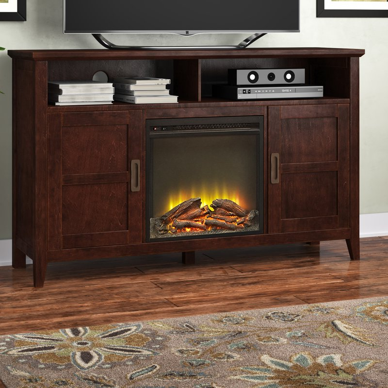 "Preferred Wyatt 68 Inch Tv Stands With Regard To Darby Home Co Flintwood Tv Stand For Tvs Up To 55"" With Fireplace (View 9 of 20)"