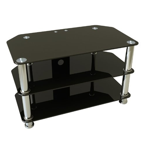 Premier Av, Tv Stands, Premier Plasma And Lcd Glass Tv Stand With Favorite Black Glass Tv Stands (View 18 of 20)
