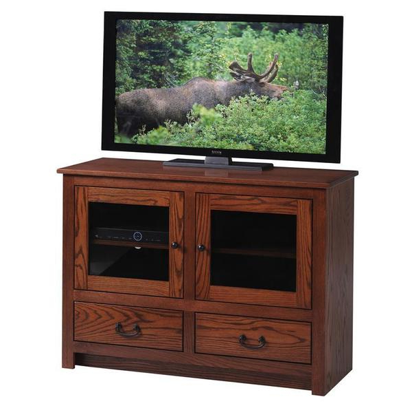 Quick Ship Express Tall Glass Door Tv Stand From Dutchcrafters Amish Inside Well Known Very Tall Tv Stands (View 15 of 20)