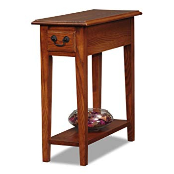 Recent Amazon: Leick Chair Side End Table, Medium Oak Finish: Kitchen Within Chari Media Center Tables (View 17 of 20)