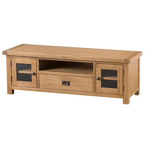 Recent Buy Large Solid Oak Tv Units & Cabinets At Furniture Octopus In Chunky Oak Tv Units (View 15 of 20)