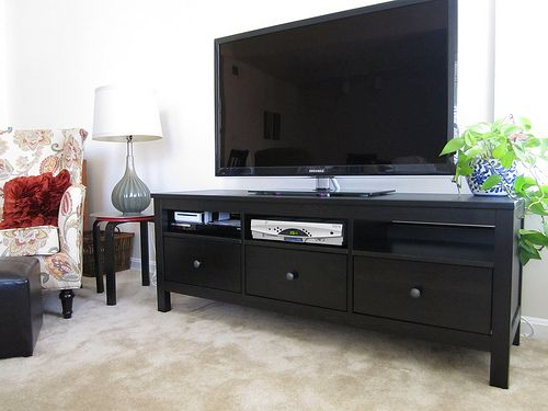 Recent Cato 60 Inch Tv Stands Pertaining To Want: Simple, Effective And Cheap, Ikea Hemnes Tv Stand In Black (Gallery 7 of 20)