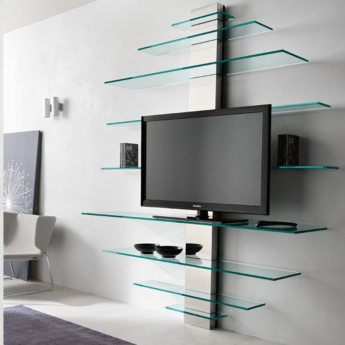 Recent Contemporary Wall Tv Stand Ideas For Modern Livingroom For Contemporary Glass Tv Stands (View 15 of 20)