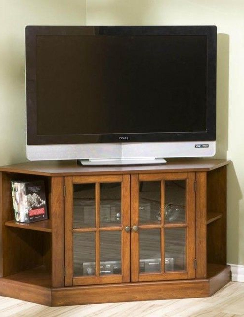 Recent Corner Tv Cabinets For Flat Screens Throughout 42 Inch Flat Screen Corner Tv Stand Will Ideally Fit A Compact (Gallery 3 of 20)