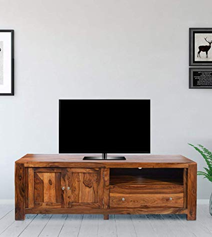 Recent Daintree Tv Stands With Regard To Daintree New Cuba Tv Unit Cabinet (Lacquer Finish, Natural Teak (Gallery 7 of 20)