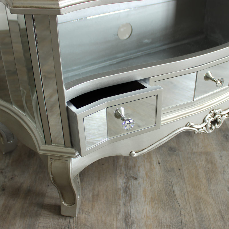 Recent French Style Tv Cabinets For Mirrored Vintage Style Tv Cabinet Unit Shabby French Chic Living (Gallery 6 of 20)