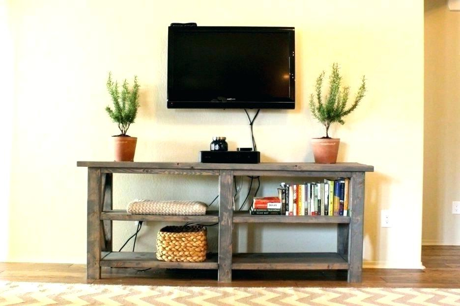 Recent Furniture Under Mounted Tv Corner Shelf For Television Shelves For With Console Tables Under Wall Mounted Tv (View 16 of 20)