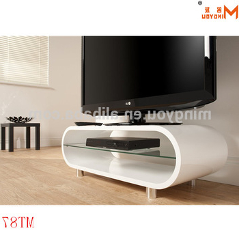 Recent High Gloss Wood Oval Shape Tv Stand – Buy High Gloss White Tv Stand With Regard To High Gloss White Tv Stands (Gallery 19 of 20)