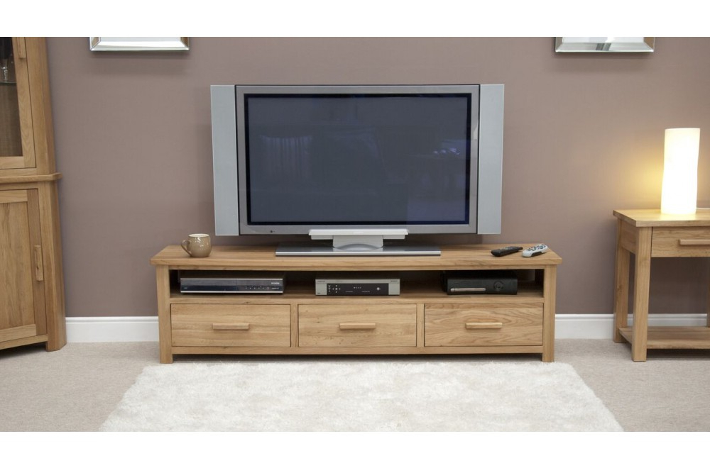 Recent Homestyle Opus Light Oak Wide Plasma Tv Unit From The Sleep Station Intended For Wide Oak Tv Units (View 16 of 20)