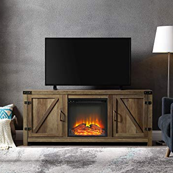 Recent Kilian Grey 49 Inch Tv Stands Inside Amazon: We Furniture Az58Fpbdro Tv Stand, Rustic Oak: Kitchen (Gallery 4 of 20)