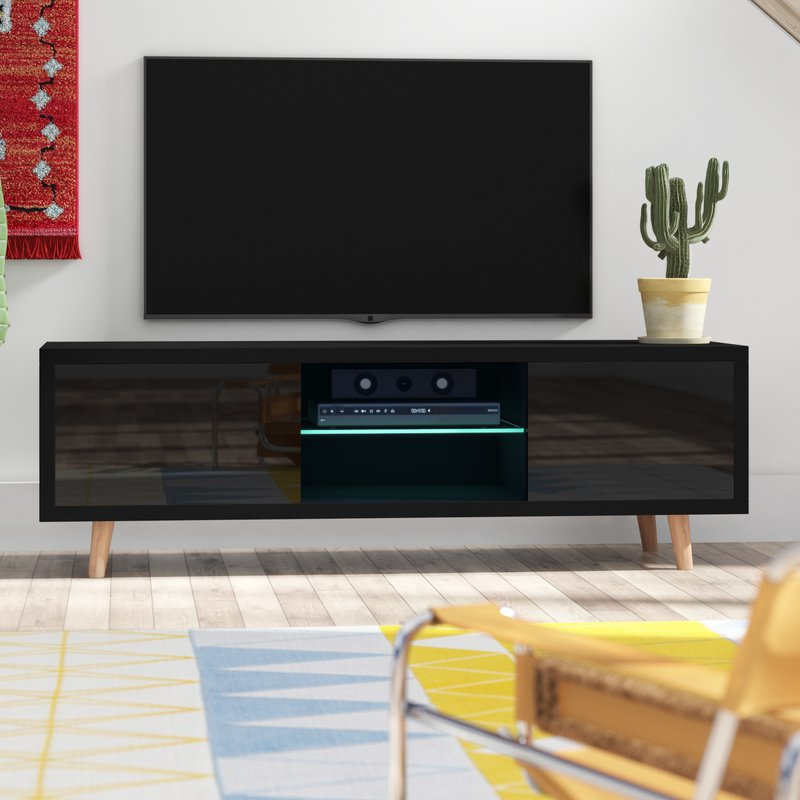 "Recent Langley Street Desert Palms Tv Stand For Tvs Up To 55"" With Led Intended For Tv Stands With Led Lights (View 12 of 20)"