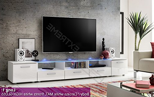 Recent Long Tv Stands Pertaining To Modern Tv Unit Cabinet High Gloss Tv Stand Entertainment Lowboard (Gallery 15 of 20)