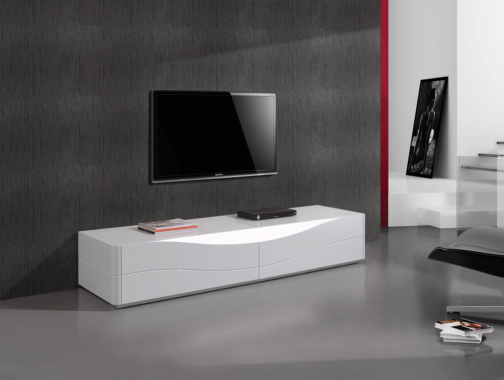 Recent Luxury Tv Stands With Popular Two Door Luxury Tv Stand With Led Light From Portugal El (View 15 of 20)