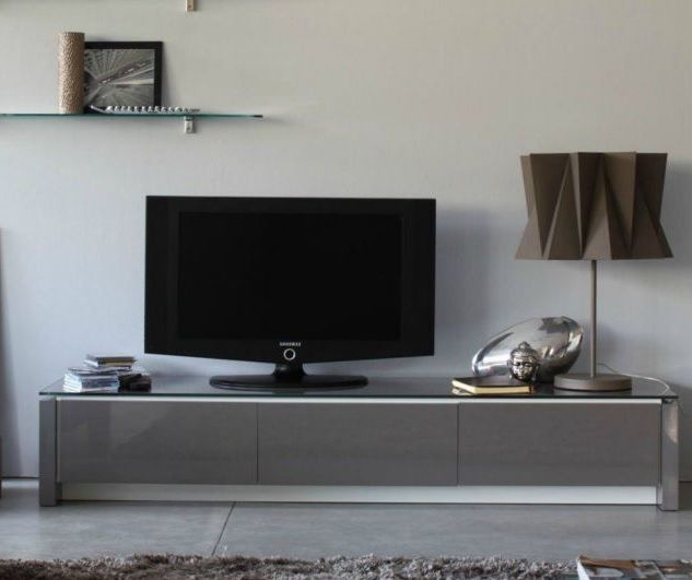 Recent Mag Tv Unit Glass Topcalligaris – Tv & Media Units – Beadle Pertaining To Glass Tv Cabinets With Doors (Gallery 15 of 20)
