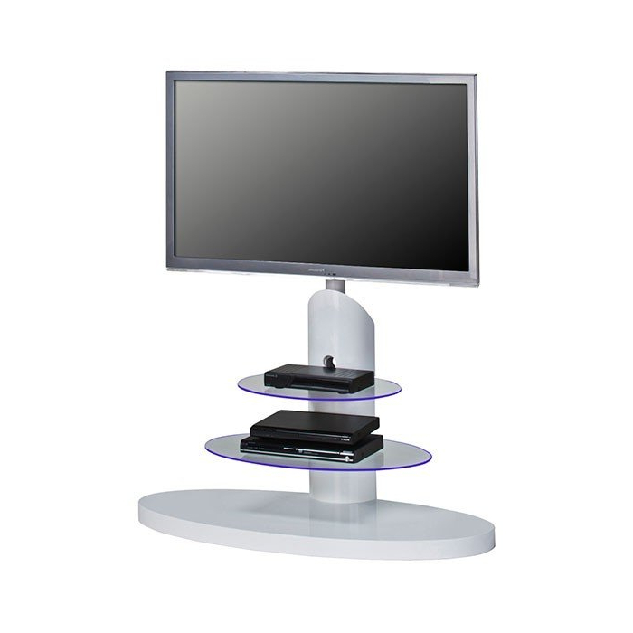 Recent Maja 1636 9956 High Gloss White Cantilever Tv Stand For Screens Up Regarding Cantilever Tv Stands (View 8 of 20)