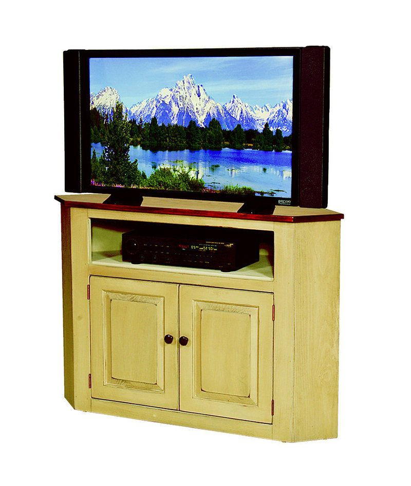 Recent Maple Wood Tv Stands With Corner Tv Television Console Cabinet Amish Handmade Maple Furniture (View 10 of 20)