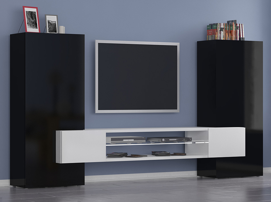 Recent Modern Tv Stand / Wall Unit Incastro High (View 11 of 20)
